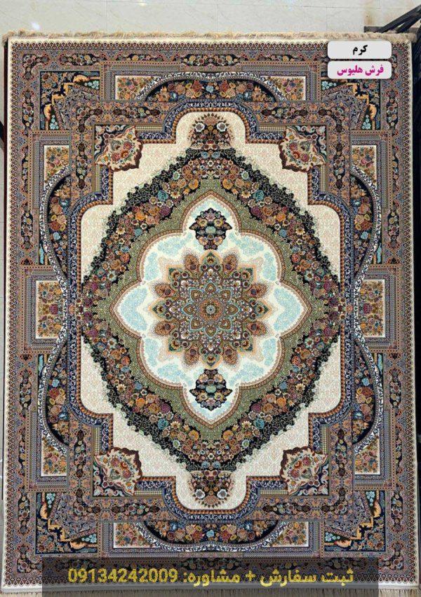 فرش طرح یکتا کرم 1000 شانه کاشان
