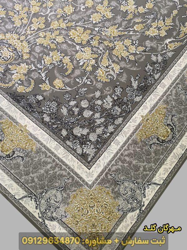 فرش ماشینی طرح مهرگان 1000 شانه